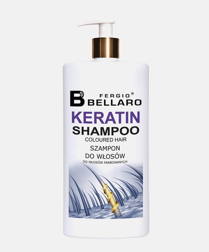 Fergio Bellaro Szampon  z ekstraktem z keratyny do włosów farbowanych 500 ml