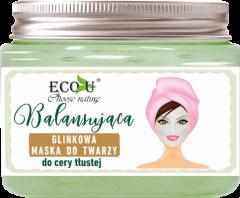 ECO U Balansująca glinkowa maska do twarzy, do cery tłustej