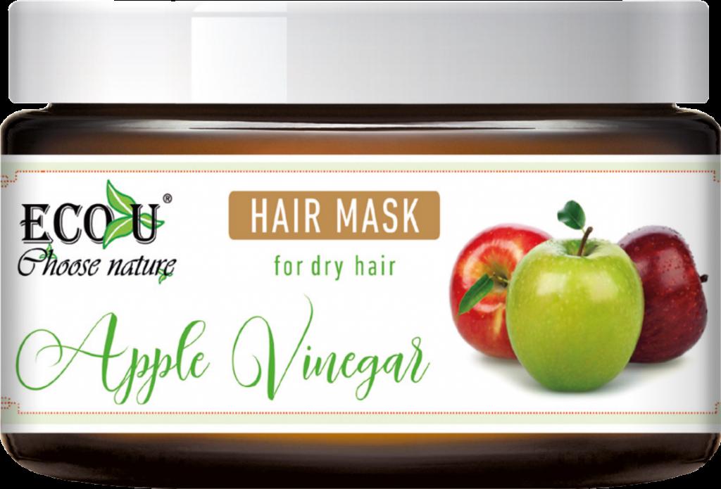 ECOU Maska do włosów z octem jabłkowym do włosów suchych 250 ml
