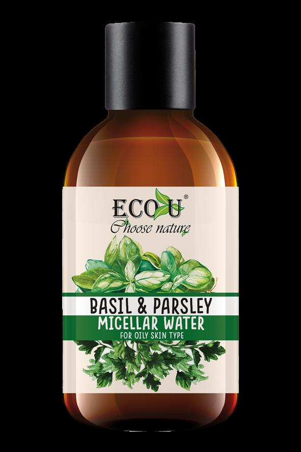 ECOU Płyn micelarny z ekstraktem bazylii i pietruszki do cery tłustej 200 ml