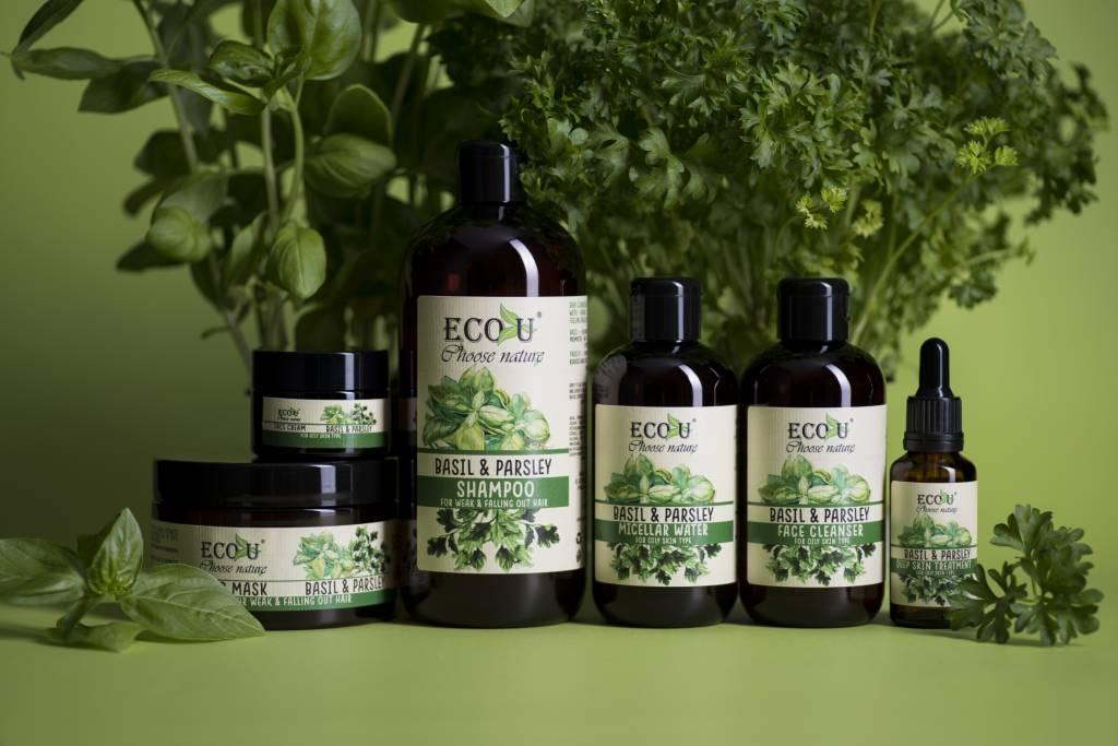 ECOU Maska do włosów słabych z ekstraktem z bazylii i pietruszki do włosów słabych i z tendencją do wypadania 250 ml