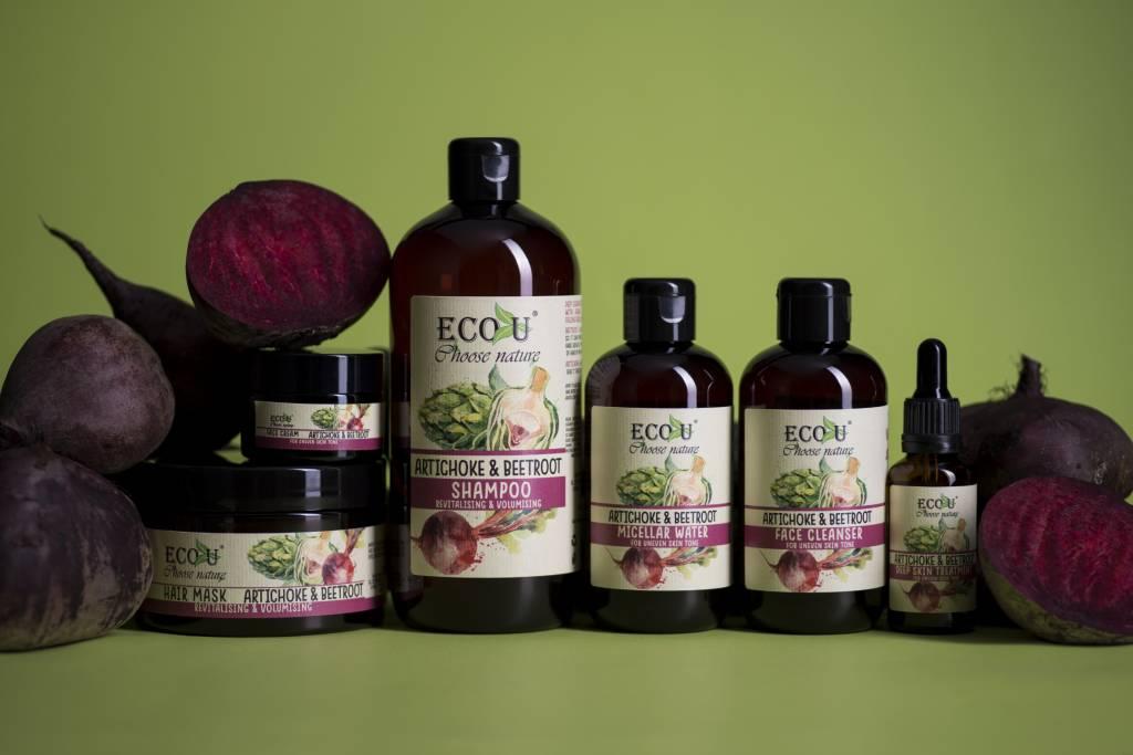 ECOU Płyn micelarny z ekstraktem buraka i karczocha do cery o poszarzałej i z przebarwieniami 200 ml