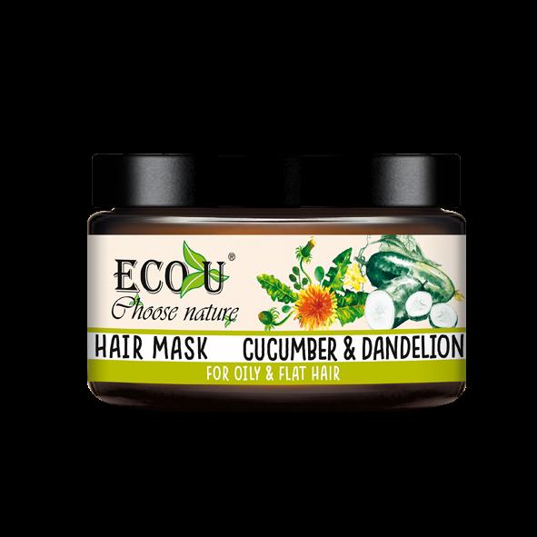 Maska do włosów z ekstraktem z mniszka i ogórka