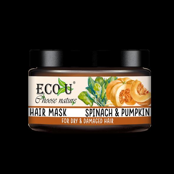 ECOU Maska do włosów z ekstraktem z dyni i szpinaku  do włosów suchych i zniszczonych 250 ml