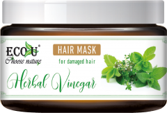 ECOU Maska z octem ziołowym do włosów zniszczonych 250 ml