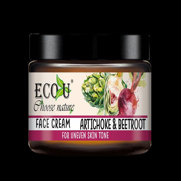 ECOU Krem do twarzy z ekstraktem z buraka i karczocha do  cery o poszarzałej i z przebarwieniami 30 ml