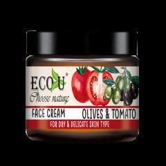 Krem do twarzy z ekstraktem z pomidora i oliwek