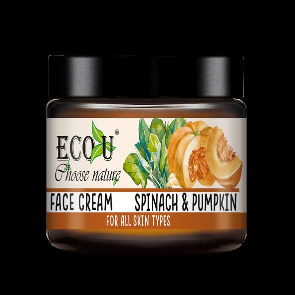 ECOU Krem do twarzy z ekstraktem z dyni i szpinaku do każdego rodzaju cery 30 ml