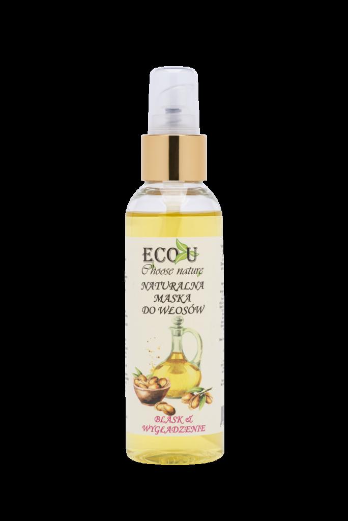 ECO U Naturalna maska olejowa do włosów-wygładzenie i blask 125 ml