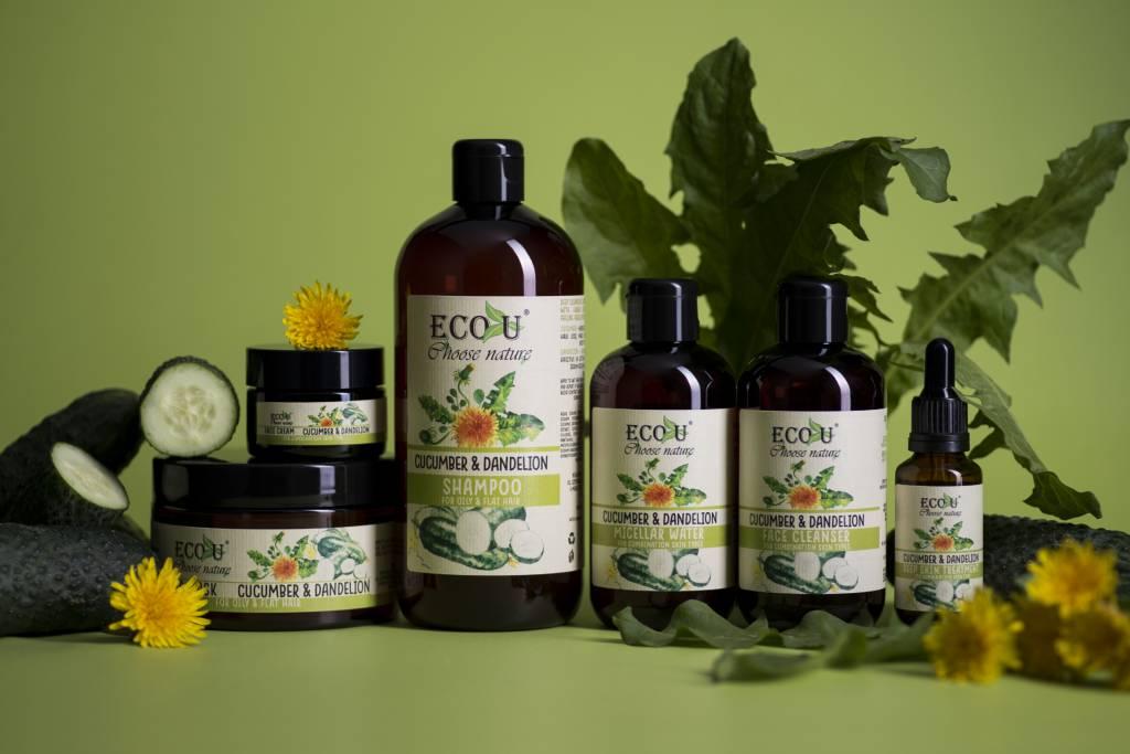 ECOU Szampon z ekstraktem z ogórka i mniszka do włosów przetłuszczających się 500 ml