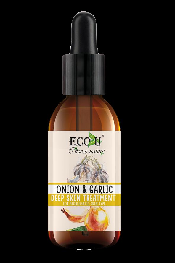 ECOU Kuracja do twarzy z ekstraktem z cebuli i czosnku do cery problematycznej 30 ml