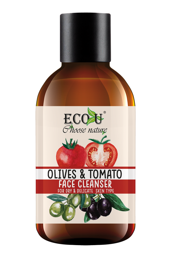 ECOU Żel do mycia twarzy z ekstraktem z pomidora i oliwek do cery suchej i delikatnej 200 ml