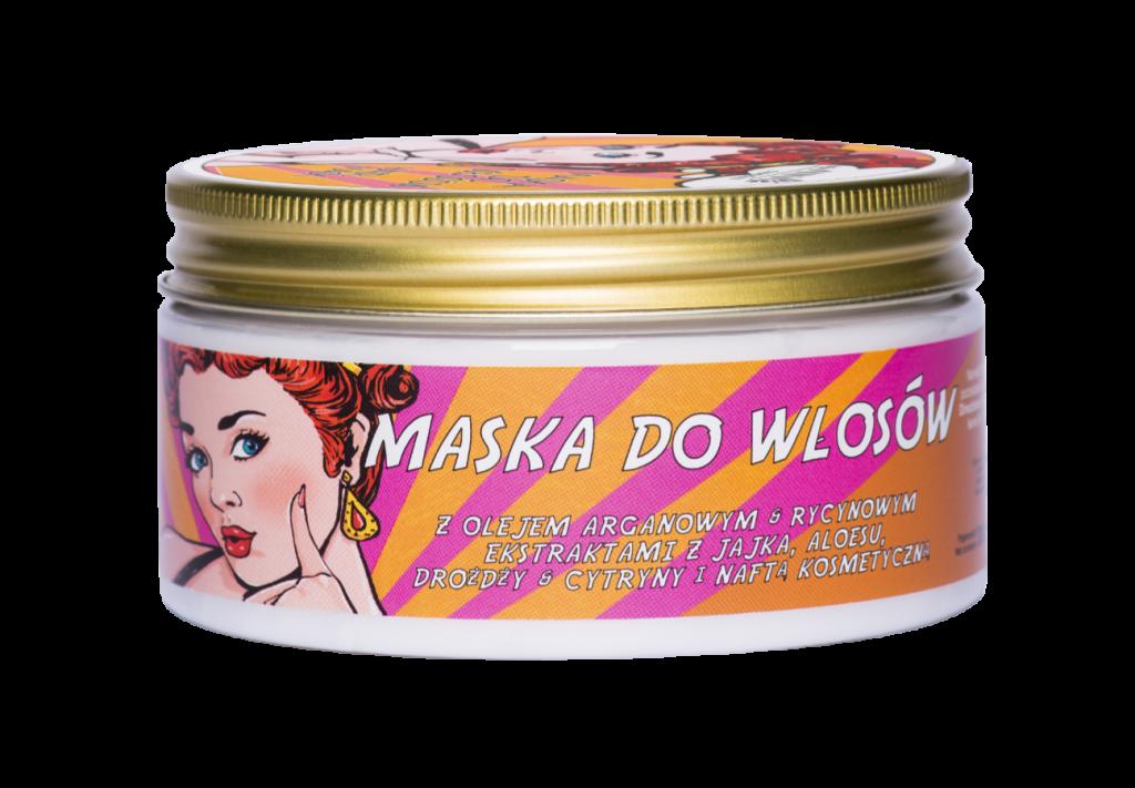 NEW ANNA COSMETICS, RETRO Maska do włosów z naftą kosmetyczną, olejem arganowym & rycynowym, ekstraktami z jajka, aloesu, drożdży & cytryny 300 ml