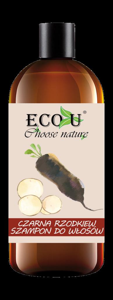 ECOU Szampon z czarną rzodkwią do włosów zniszczonych i wypadających 500 ml