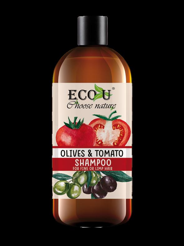 Szampon do włosów z ekstraktem pomidora i oliwek