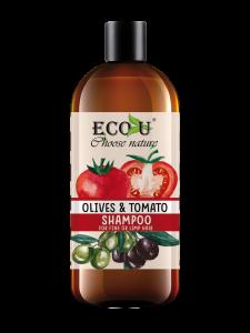 ECOU Szampon z ekstraktem pomidora i oliwek do włosów cienkich i pozbawionych objętości 500 ml