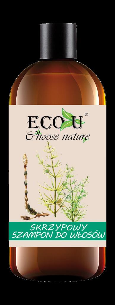 ECOU Skrzypowy szampon do włosów słabych, zniszczonych i skłonnych do wypadania 500 ml