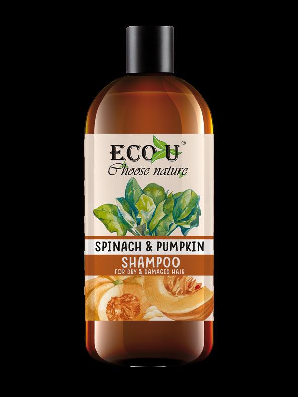 ECOU Szampon z ekstraktem z dyni i szpinaku do włosów suchych i zniszczonych 500 ml