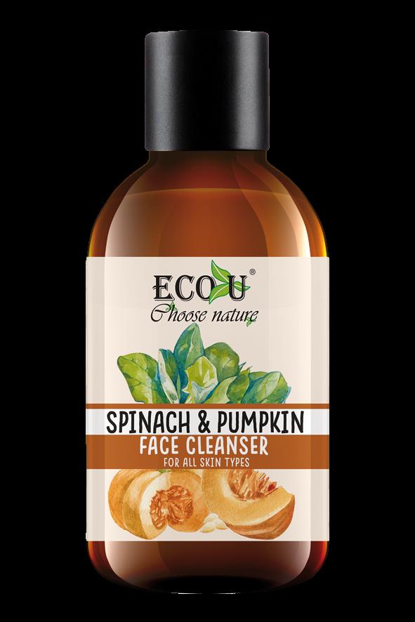 ECOU Żel do mycia twarzy z ekstraktem dyni i szpinaku do każdego rodzaju cery 200 ml