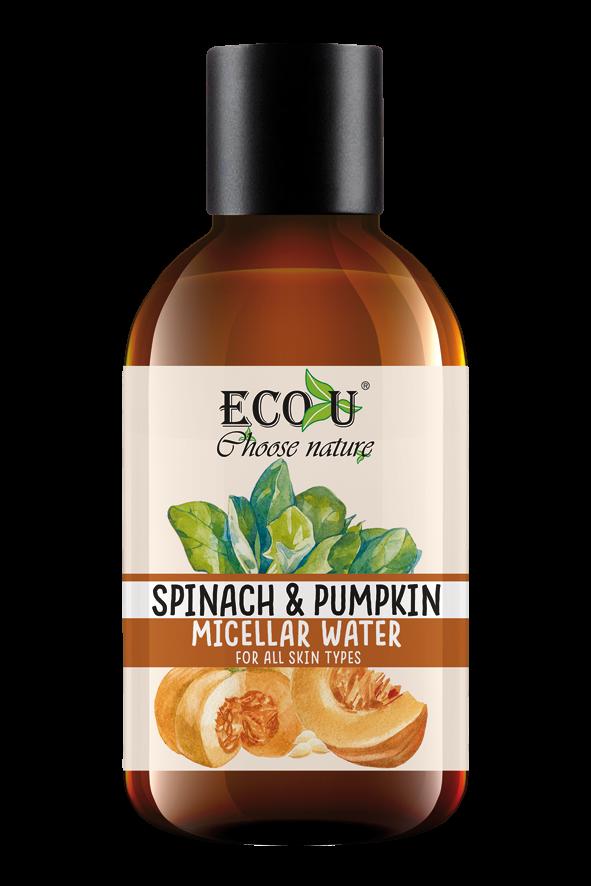 ECOU Płyn micelarny z ekstraktem dyni i szpinaku do każdego rodzaju cery 200 ml