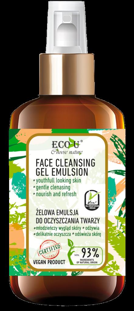 ECOU, VIVA VEGAN Żelowa emulsja do oczyszczania twarzy 200 ml